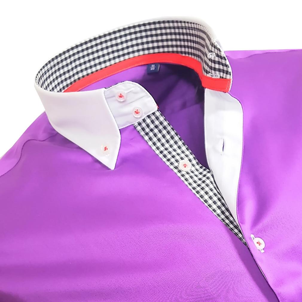 herrenhemd herren hemd satin baumwolle binder de luxe 80807 lila m 3xl shirt ebay. Black Bedroom Furniture Sets. Home Design Ideas