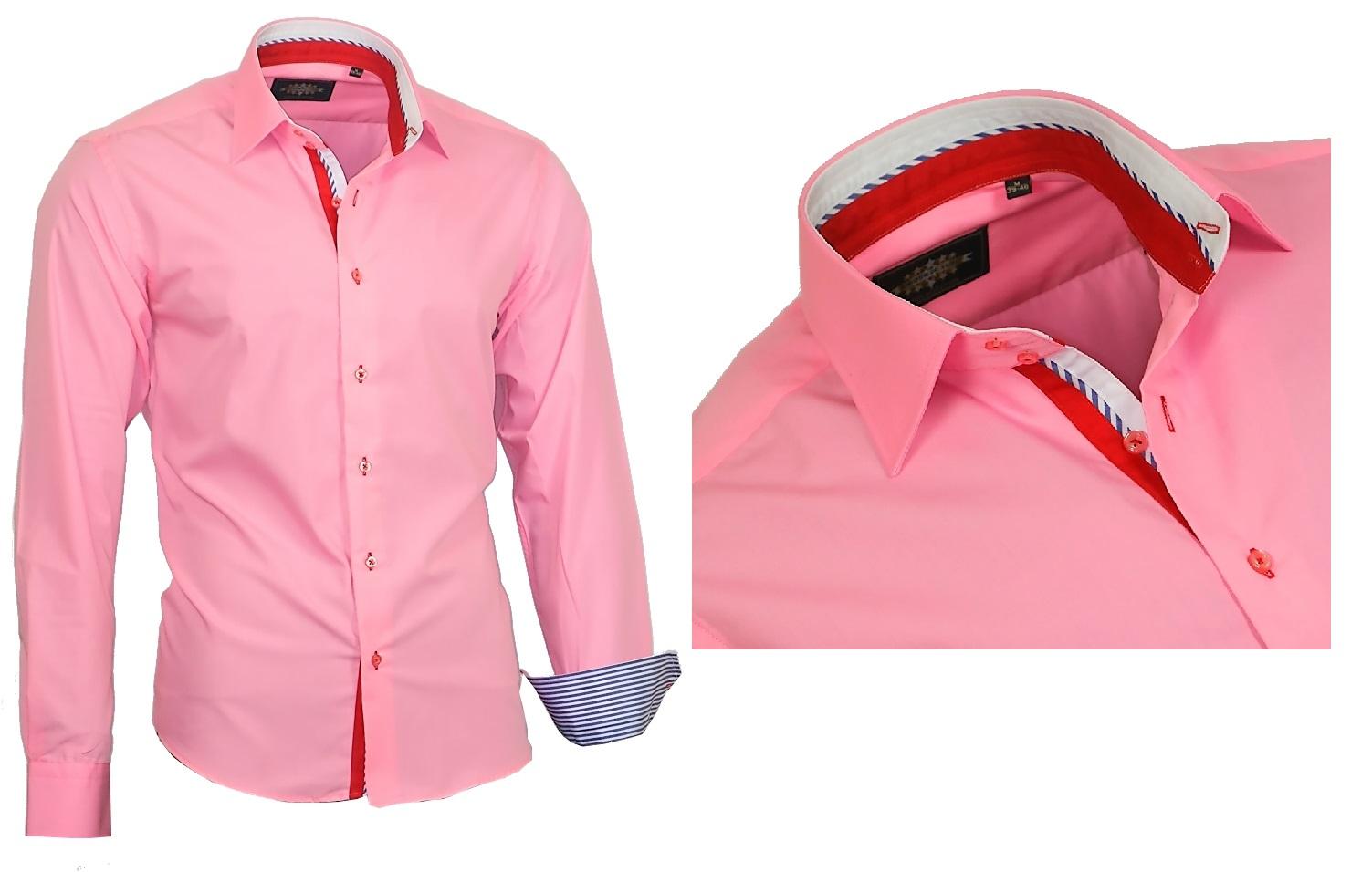 Herrenhemd-Herren-Hemd-Hemden-Shirt-Kentkragen-Langarm-827-Binder-de-Luxe Indexbild 6