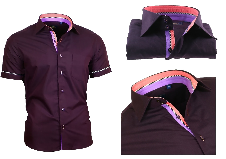 hemd herrenhemd ohne und mit brusttasche kurzarm shirt. Black Bedroom Furniture Sets. Home Design Ideas