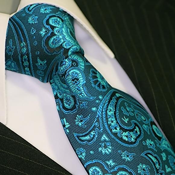 Krawatte Krawatten Set mit Einstecktuch Schlips Binder de Luxe lila 308